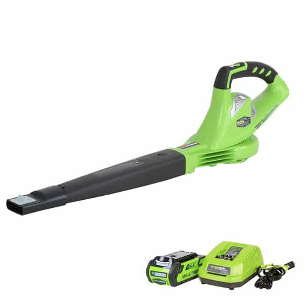 GreenWorks 2452 G-MAX 40V 150 MPH Variable Speed Cordless Blower